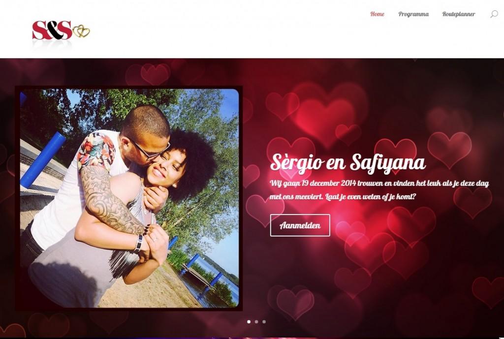 Bruiloft website